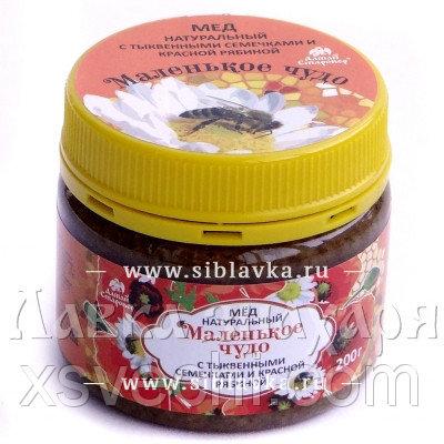 Мед «Маленькое чудо» с семенами тыквы и рябиной