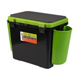 Ящик для зимней рыбалки Helios FishBox односекционный 19л зеленый