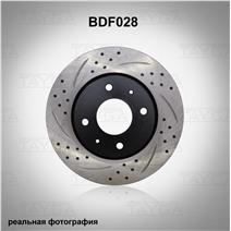 BDF028. Передняя ось. Перфорация + слоты