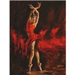 Картина по номерам 40х50 см Остров Сокровищ Огненная женщина 662467