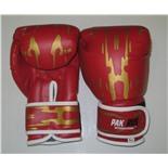 Перчатки боксерские Pak Rus, иск. кожа , 4 OZ, PR-11-015 (красный)