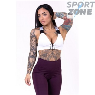 Ne Lace-up sport bra цв.белый