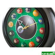 Weekend Часы настенные «12 шаров» D30 см (черные), металл, интернет-магазин товаров для бильярда Play-billiard.ru. Фото 2