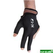 Weekend Перчатка бильярдная «K-1» (черная, вставка кожа), интернет-магазин товаров для бильярда Play-billiard.ru. Фото 1