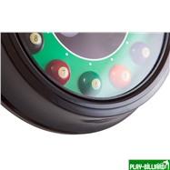 Weekend Часы настенные «12 шаров» D30 см (черные), металл, интернет-магазин товаров для бильярда Play-billiard.ru. Фото 5