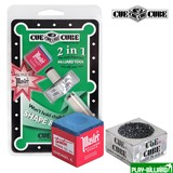 Cue Cube Corporation Махровка «Cue Cube» с мелом (блистер), интернет-магазин товаров для бильярда Play-billiard.ru