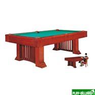 Weekend Бильярдный стол для пула «Romance» 8 ф (коричневый) со столешницей + сукно, интернет-магазин товаров для бильярда Play-billiard.ru. Фото 2