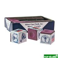 Weekend Мел «Silver Cup» (12 шт) розовый, интернет-магазин товаров для бильярда Play-billiard.ru. Фото 1