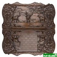 """Нарды резные """"Слоны в Африке"""", Ustyan, интернет-магазин товаров для бильярда Play-billiard.ru. Фото 2"""