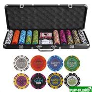 Набор для покера Cash на 500 фишек, интернет-магазин товаров для бильярда Play-billiard.ru. Фото 1
