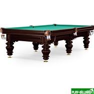 Weekend Бильярдный стол для русского бильярда «Turin» 9 ф (черный орех, 6 ног, плита 38мм), интернет-магазин товаров для бильярда Play-billiard.ru