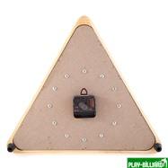 """Часы настенные """"Треугольник"""" (дуб) 40 см х 35 см, деревянные, интернет-магазин товаров для бильярда Play-billiard.ru. Фото 2"""