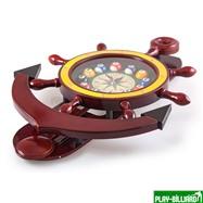 """Часы настенные """"Якорь"""" 40 см х 61 см, деревянные, интернет-магазин товаров для бильярда Play-billiard.ru. Фото 9"""