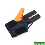 Weekend Перчатка бильярдная «K-1» (черно-оранжевая, вставка кожа), интернет-магазин товаров для бильярда Play-billiard.ru. Фото 2