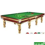 Weekend Бильярдный стол для снукера «Dynamic Prince» 12 ф (золотистый), интернет-магазин товаров для бильярда Play-billiard.ru. Фото 1