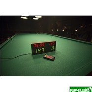 Электронное табло «Play 8» с дистанционным управлением, интернет-магазин товаров для бильярда Play-billiard.ru. Фото 5