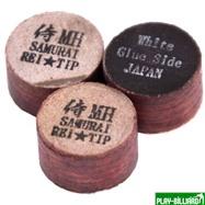 REI TIP & MAX Co. Наклейка для кия «Rei Samurai White» (MН) 14 мм, интернет-магазин товаров для бильярда Play-billiard.ru. Фото 1