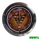 """Часы настенные """"NBU-1"""" (неон) D35см, интернет-магазин товаров для бильярда Play-billiard.ru"""