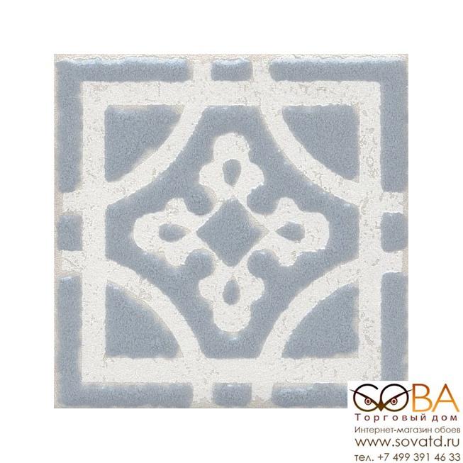 Декор Kerama Marazzi Вставка Амальфи орнамент серый 9,8х9,8 купить по лучшей цене в интернет магазине стильных обоев Сова ТД. Доставка по Москве, МО и всей России