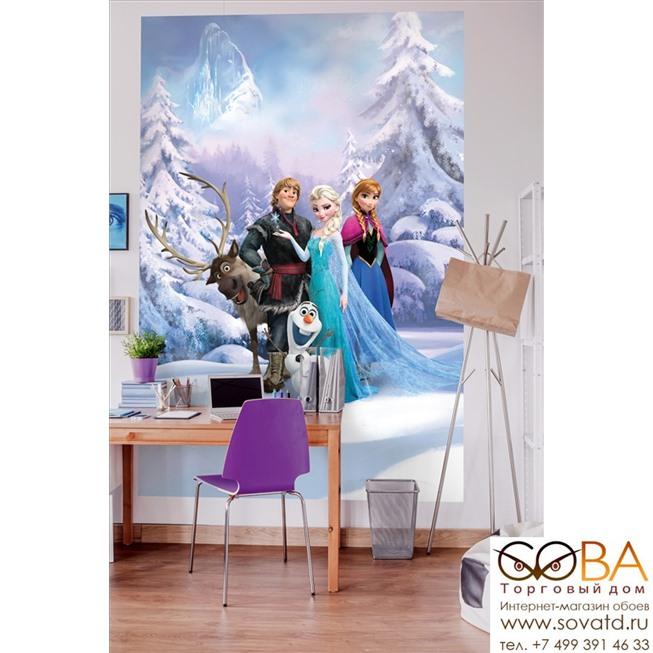 Фотообои Komar Frozen Winter Land артикул 4-498 размер 184 x 254 cm площадь, м2 4,6736 на бумажной основе купить по лучшей цене в интернет магазине стильных обоев Сова ТД. Доставка по Москве, МО и всей России