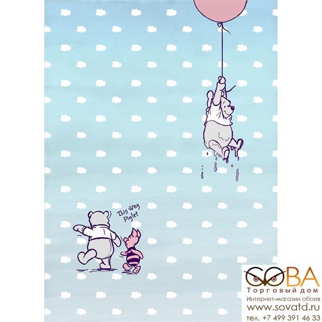 Фотообои Komar Winnie Pooh Piglet артикул 4-4025 размер 184 x 254 cm площадь, м2 4,6736 на бумажной основе купить по лучшей цене в интернет магазине стильных обоев Сова ТД. Доставка по Москве, МО и всей России