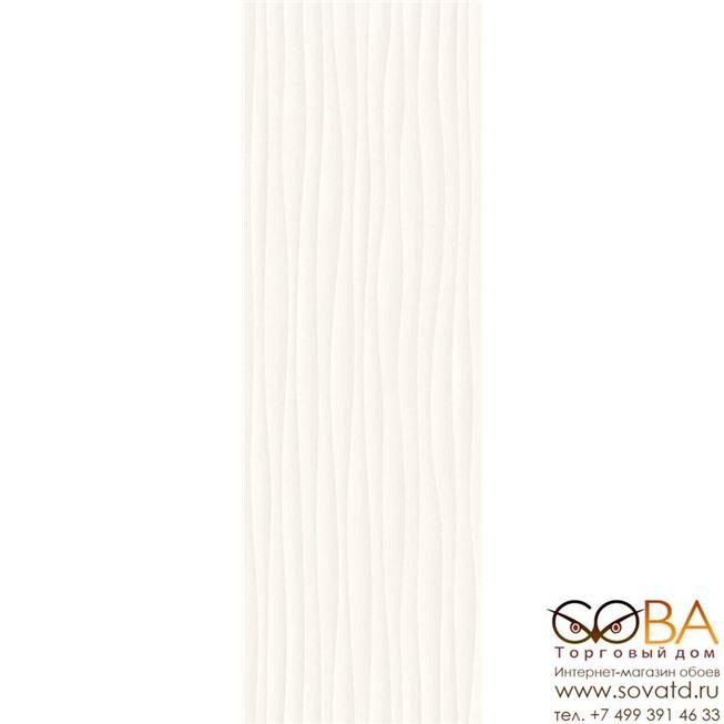 Плитка Marazzi  Eclettica White Struttura Wave 3D 40x120 купить по лучшей цене в интернет магазине стильных обоев Сова ТД. Доставка по Москве, МО и всей России