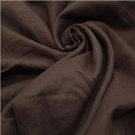 Конопляная ткань цвет шоколад №87