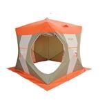 Палатка рыбака Нельма Куб-2 (оранжевый/беж/хаки)