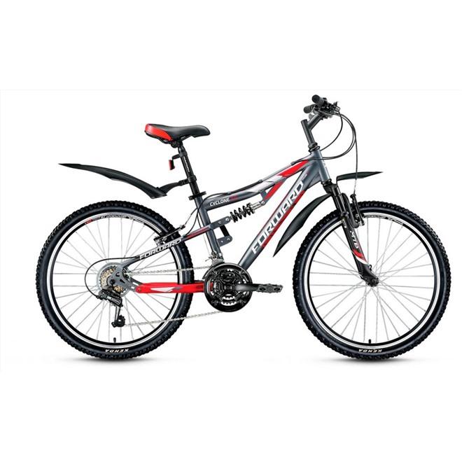 Велосипед Forward Cyclone 2.0 24 (2017) Серый/Красный Матовый, интернет-магазин Sportcoast.ru