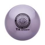 Мяч для художественной гимнастики RGB-101, 15 см, серый