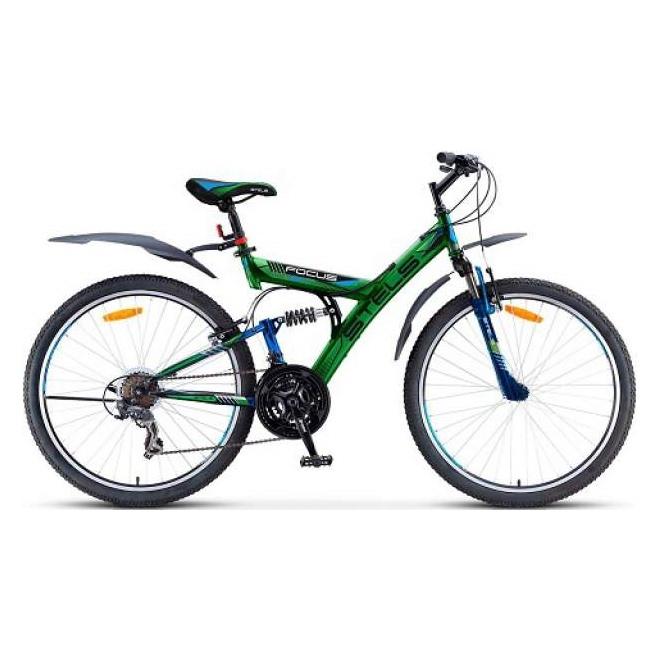 """Велосипед Stels Focus 26"""" V 18 sp V020 Черный/Синий, интернет-магазин Sportcoast.ru"""