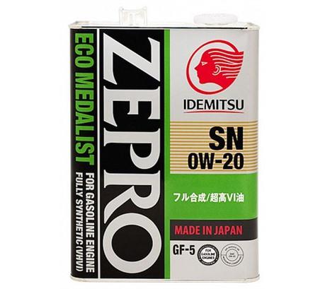 Моторное масло Idemitsu Zepro Eco Medalist 0W-20 (4л.)