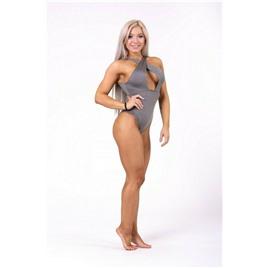 Ne Sexy monokini swimsuit with refined neckline цв.металл