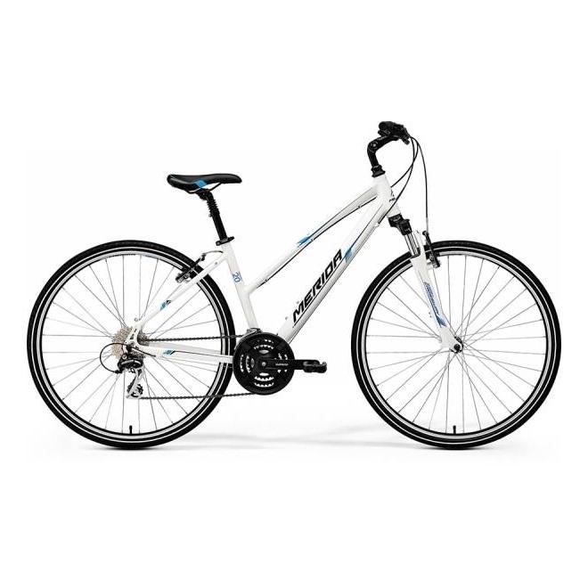 Велосипед Merida Crossway 20V Lady White/Blue/Black (2017), интернет-магазин Sportcoast.ru
