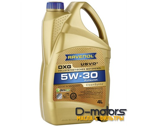 Моторное масло Ravenol DXG 5W-30 (4л.)