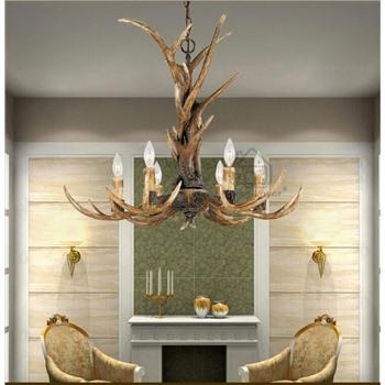 Подвесная деревянная люстра Дерево