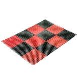 Грязезащитный коврик Vortex Травка 42х56 см черно-красный 23006