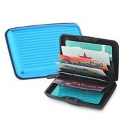 Алюминиевый рифленый кошелек Aluma Wallet (Алюма Валет) цвет голубой, оригинал в коробочке