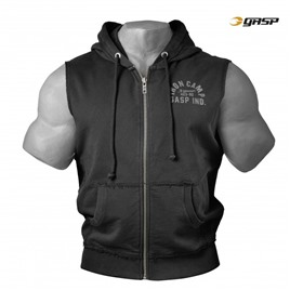 Безрукавка GASP Throwback Zip Hood, Washed Black