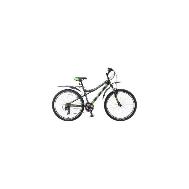 Велосипед Stels Navigator 510 V V010 Темно-серый/Черный/Салатовый , интернет-магазин Sportcoast.ru