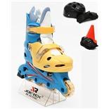 Роликовые коньки JOEREX RO0306 набор (синий/желтый) (р.39-42)