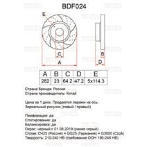 BDF024. Передняя ось. Перфорация + слоты