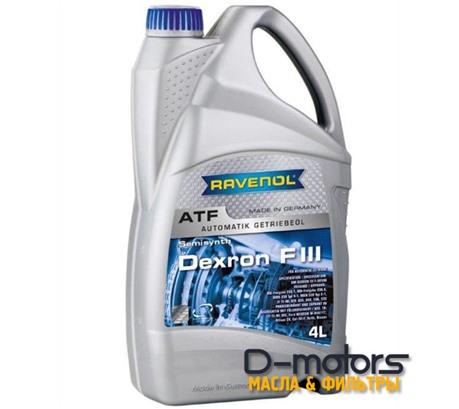 Трансмиссионное масло для АКПП Ravenol ATF Dexron F III (4л)