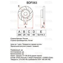 BDF063. Передняя ось. Перфорация + слоты