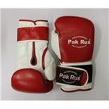 Перчатки боксерские Pak Rus ,кожа, 12 OZ красные (PR-12492)