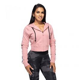 Укороченная толстовка Better Bodies Vesey Cropped Hood, розовая