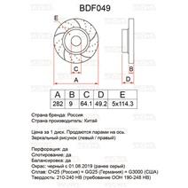 BDF049. Задняя ось. Перфорация + слоты