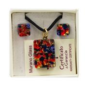 Комплект кулон и серьги в подарочной коробочке АА1022