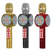 Беспроводной Bluetooth караоке микрофон с колонкой Wster WS-1816